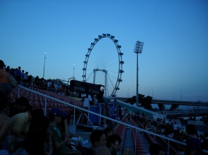 Singapore Flyer view from Floating Platform