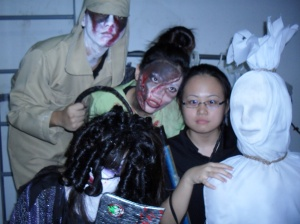 Japanese Soldier, Witch, Macik and Pocong (hwee xiang,yenling and annabelle)